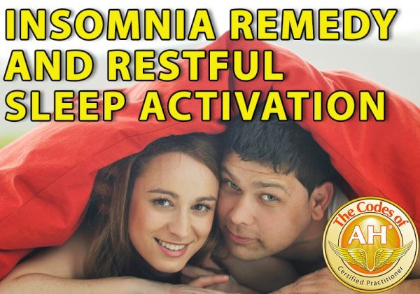 Insomnia Remedy and Restful Sleep Activation with Codes of AH