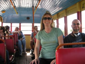 Bus ride to Blue Morpho Ayahuasca retreat in the Amazon of Peru.